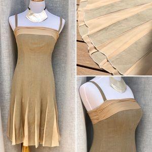Moschino Khaki hemp and silk dress